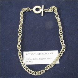 Necklace 925 - Tiffany & Co. Toggle Chain - 49.36 g