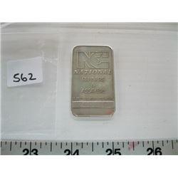 1 OZ NATIONAL SILVER .999 BAR (TAX EXEMPT)