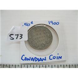 1900 CDN 50 CENT PIECE