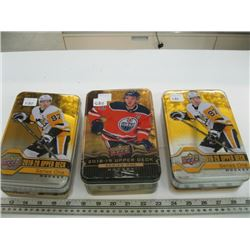 3 TINS OF UPPER DECK HOCKEY CARDS