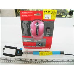MONO POD WITH EXTENDABLE HANDLE, NEW WIRELESS MOUSE