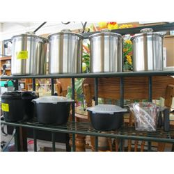 STAINLESS STEEL CANISTER SET, A LOT OF PLASTIC STORAGE CONTAINERS, 2 MEASURING CUPS