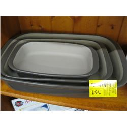 SET OF 3 PAMPERED CHEF BAKING DISHES