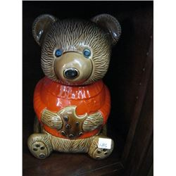 DUNCAN HINES BEAR COOKIE JAR MADE IN CANADA