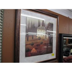 "LARGE FRAMED PRINT BY J. WIENS OF ""THE OLD HOUSE"""