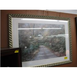 "FRAMED PRINT OF ""THE ROAD THROUGH THE TREES"""