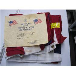 U.S.A. FLAG (w/Certificate)