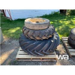 (3) TRACTOR & IMPLEMENT TIRES & RIMS