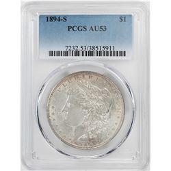 1894-S $1 Morgan Silver Dollar Coin PCGS AU53