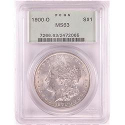 1900-O $1 Morgan Silver Dollar Coin PCGS MS63 Old Green Holder