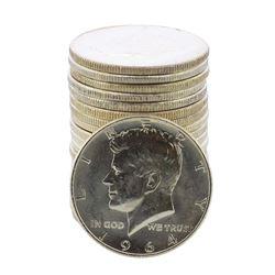 Roll of (20) Brilliant Uncirculated 1964 Kennedy Half Dollar Coins