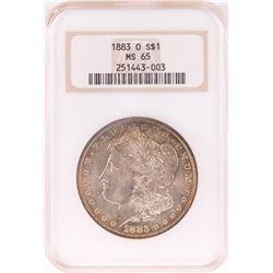 1883-O $1 Morgan Silver Dollar Coin NGC MS65 Nice Toning Old Holder
