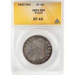 1822 Capped Bust Half Dollar Coin ANACS XF45 O-113