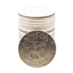 Roll of (20) Brilliant Uncirculated 1996 $1 American Silver Eagle Coins