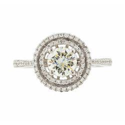 18KT White Gold 1.12 ctw Diamond Ring
