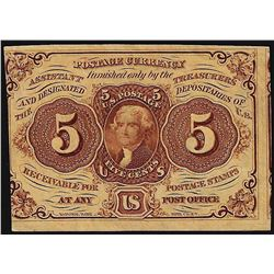 July 17, 1862 Five Cents First Issue Fractional Currency Note