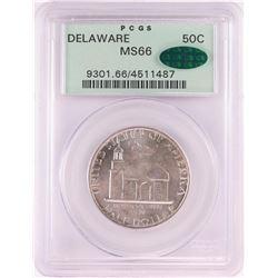 1936 Delaware Tercentenary Commemorative Half Dollar Coin PCGS MS66 CAC