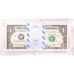 Pack of (100) 2013 $1 Federal Reserve STAR Notes Dallas in Capital Holder