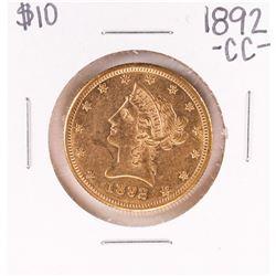 1892-CC $10 Liberty Head Eagle Gold Coin