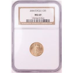 2004 $5 American Gold Eagle Coin NGC MS69
