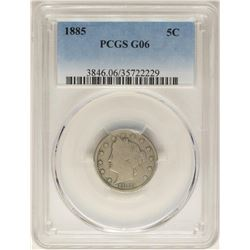 1885 Barber Liberty V Nickel Coin PCGS G06