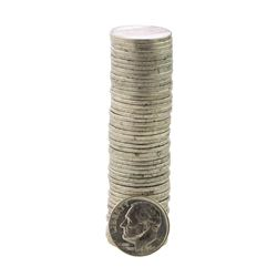 Roll of (50) Brilliant Uncirculated 1964 Roosevelt Dime Coins