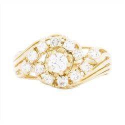 14KT Yellow Gold Ladies 0.86 ctw Diamond Ring