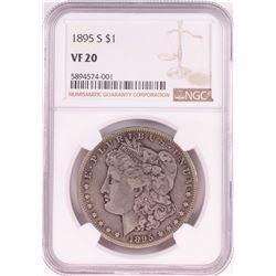 1895-S $1 Morgan Silver Dollar Coin NGC VF20
