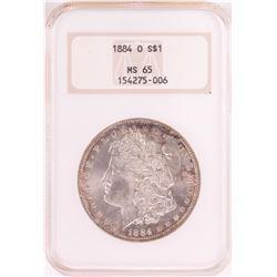 1884-O $1 Morgan Silver Dollar Coin NGC MS65 Old Holder