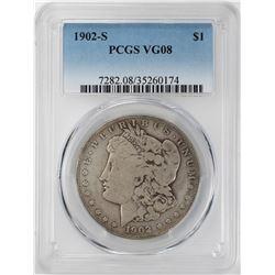 1902-S $1 Morgan Silver Dollar Coin PCGS VG08