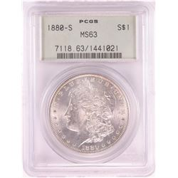 1880-S $1 Morgan Silver Dollar Coin PCGS MS63 Old Green Holder