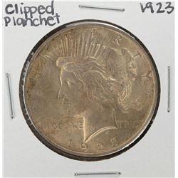 1923 $1 Peace Silver Dollar Coin - Clipped Planchet Error