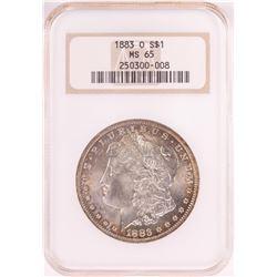 1883-O $1 Morgan Silver Dollar Coin NGC MS65 Old Holder