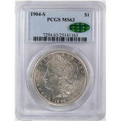 1904-S $1 Morgan Silver Dollar Coin PCGS MS63 CAC