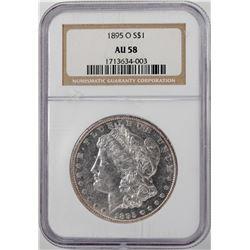 1895-O $1 Morgan Silver Dollar Coin NGC AU58