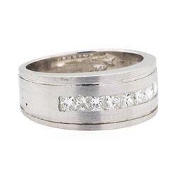14KT White Gold 0.80 ctw Princess Cut Diamond Ring