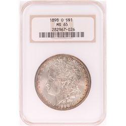 1898-O $1 Morgan Silver Dollar Coin NGC MS65 Nice Toning Old Holder