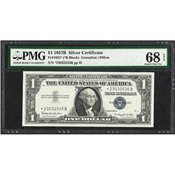 1957B $1 Silver Certificate STAR Note Fr.1621* PMG Superb Gem Uncirculated 68EPQ