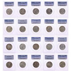 Short Walker Set of 1941-1947 Walking Liberty Half Dollar Coins PCGS MS64