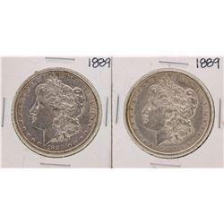 Lot of (2) 1889 $1 Morgan Silver Dollar Coins