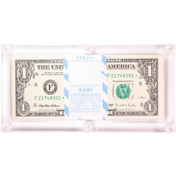 Pack of (100) 1995 $1 Federal Reserve STAR Notes Atlanta in Capital Holder