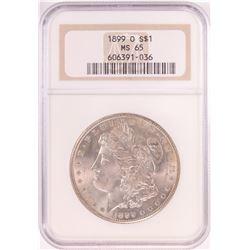 1899-O $1 Morgan Silver Dollar Coin NGC MS65 Old Holder
