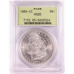 1884-CC $1 Morgan Silver Dollar Coin PCGS MS65 Old Green Holder