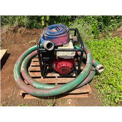 Portable Water Pump with Honda Motor and 2 Hoses