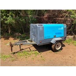 Airman PDS185S Portable Compressor, 3153 Hours (Starts, Runs, Blows Air - See Video)