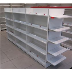 1 Frestanding Metal Shelving Unit w/ Removable End Shelves 9ft, 2 Inches Long, 1ft Depth on Each Sid