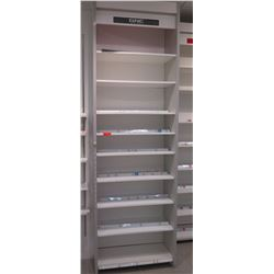 "1 Section of Metal Wall-Mount Shelving 37""W x 16""D x 10ft Tall"