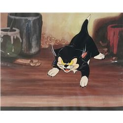 Original Pinocchio Production Cel of Figaro.
