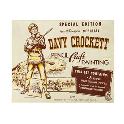 Davy Crockett Pencil Craft Painting Set.
