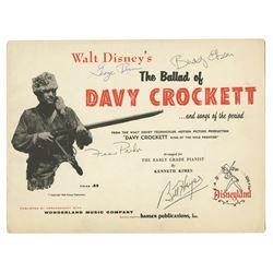 """The Ballad of Davy Crockett"" Multi-Signed Song Book."